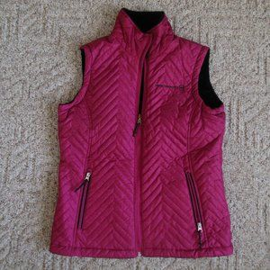 NEW! Free Country Small Pink Fleece Lined Zip Vest